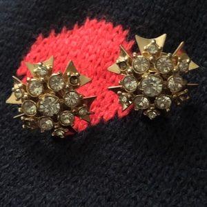 2/$30 🛍Vintage Starburst Crystal Earrings